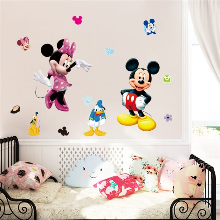 3D Cartoon Mickey Minnie Wall Stickers For Kids Room Bedroom Wall Decoration Princess Room Sticker 5 / Shop Social Online Store