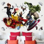 3D-avengers-wall-stickers-living-room-bedroom-wall-decoration