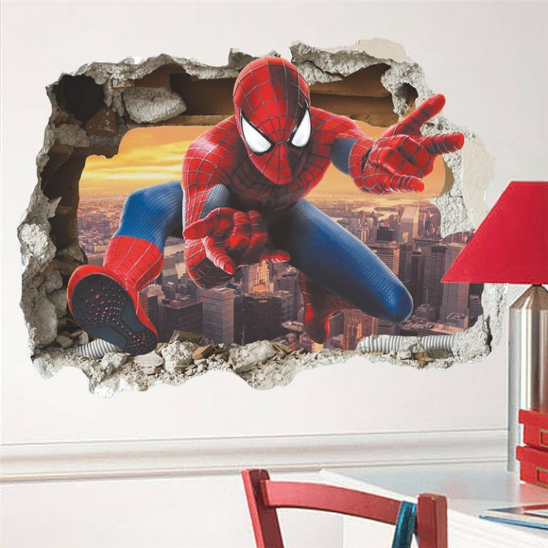 3D avengers wall stickers living room bedroom wall decoration Super hero movie poster wall stickers for 5 / Shop Social Online Store