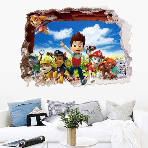 Cartoon 3D Paw Patrol Kids Removable Wall Stickers Decals Nursery Home Decor Vinyl Mural for Boys 1 / Shop Social Online Store