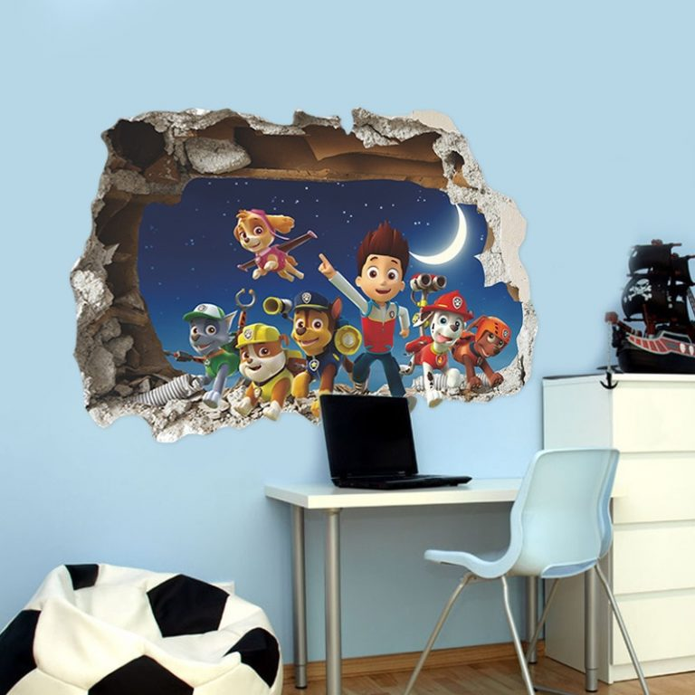 Cartoon 3D Paw Patrol Kids Removable Wall Stickers Decals Nursery Home Decor Vinyl Mural for Boys 3 / Shop Social Online Store