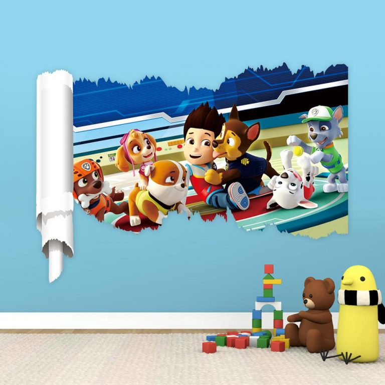 Cartoon 3D Paw Patrol Kids Removable Wall Stickers Decals Nursery Home Decor Vinyl Mural for Boys 5 / Shop Social Online Store