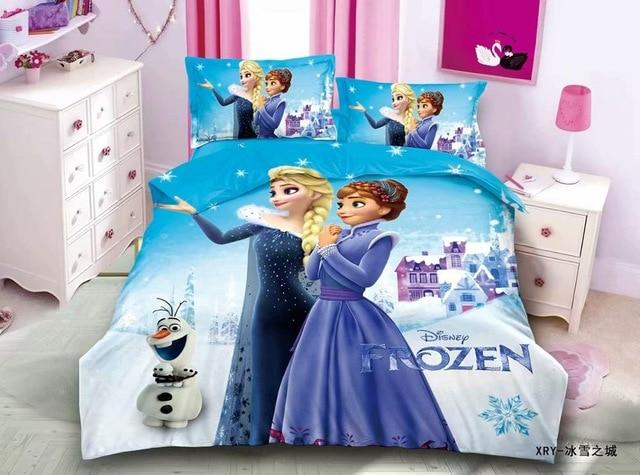 Cartoon Blue Frozen 2 Princess Elsa Anna Bedding Set Children s Kids Duvet Cover Set Bedroom 3.jpg 640x640 3 / Shop Social Online Store