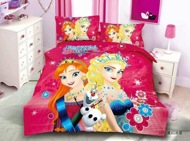 Cartoon Blue Frozen 2 Princess Elsa Anna Bedding Set Children s Kids Duvet Cover Set Bedroom 5.jpg 640x640 5 / Shop Social Online Store