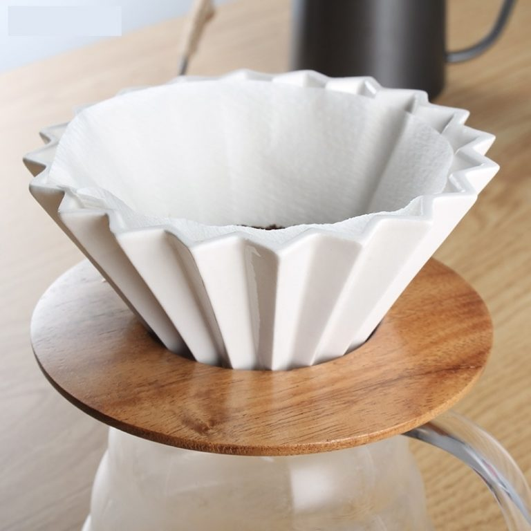 Ceramic Coffee Filter Cup Pour Over Coffee Maker with Stand V60 Funnel Dripper Cake Filter Cup 2 / Shop Social Online Store
