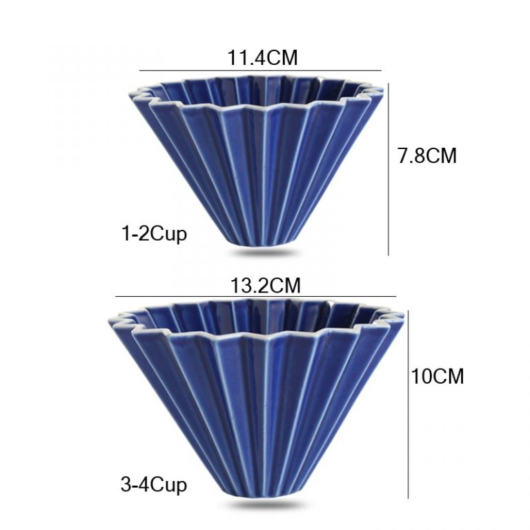 Ceramic Coffee Filter Cup Pour Over Coffee Maker with Stand V60 Funnel Dripper Cake Filter Cup 5 / Shop Social Online Store
