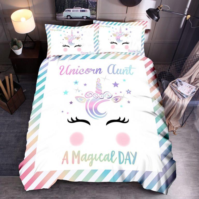 Denisroom Unicorn Duvet Cover set Kids Bedding Set Boys Girls Bedspreads Comforters Cartoon Bed set WQ02 2 / Shop Social Online Store