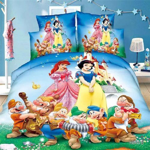Disney Rapunzel Cinderella Princess Kids Girls Bedding Set Duvet Cover Bed Sheet Pillow Cases Twin Single 1 / Shop Social Online Store