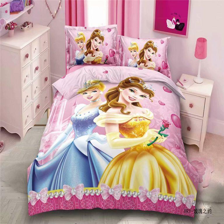 Disney Rapunzel Cinderella Princess Kids Girls Bedding Set Duvet Cover Bed Sheet Pillow Cases Twin Single 2 / Shop Social Online Store