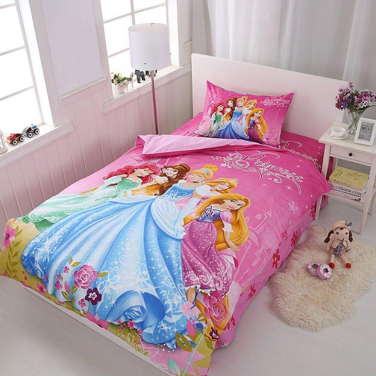 Girls Disney Princess Bedding Set With Duvet, Bed Sheet & Pillow Cases