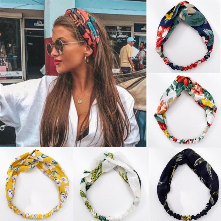 Fashion Women Girls Summer Bohemian Hair Bands Print Headbands Vintage Cross Turban Bandage Bandanas HairBands Hair / Shop Social Online Store