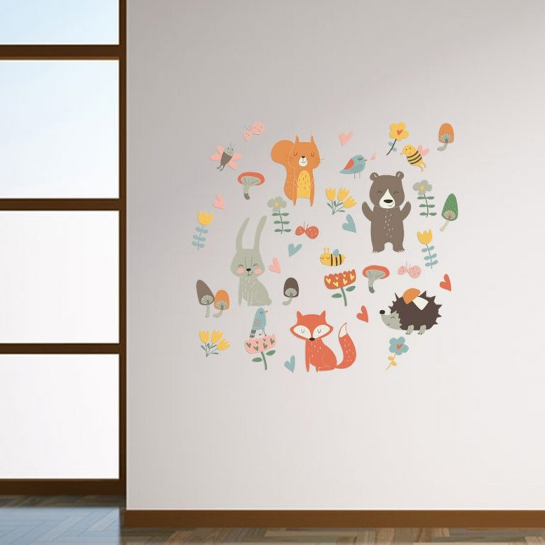Forest Animal Party Wall Sticker for kids rooms bedroom decorations wallpaper Mural home Art Decals Cartoon 2 / Shop Social Online Store