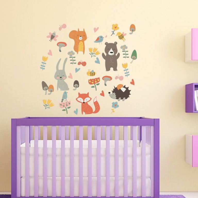 Forest Animal Party Wall Sticker for kids rooms bedroom decorations wallpaper Mural home Art Decals Cartoon 3 / Shop Social Online Store