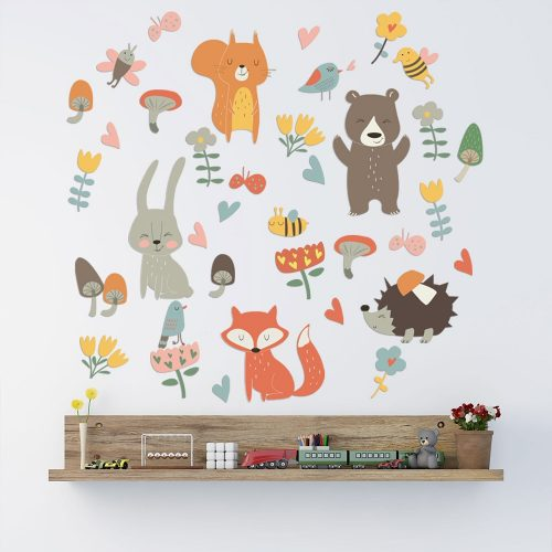Forest Animal Party Wall Sticker for Kids Bedroom
