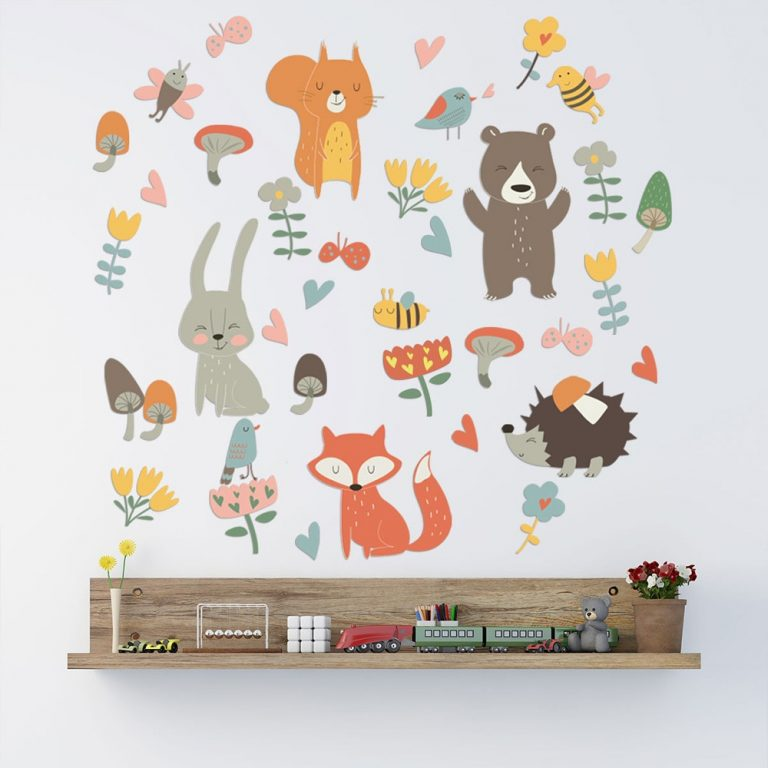Forest Animal Party Wall Sticker for kids rooms bedroom decorations wallpaper Mural home Art Decals Cartoon / Shop Social Online Store