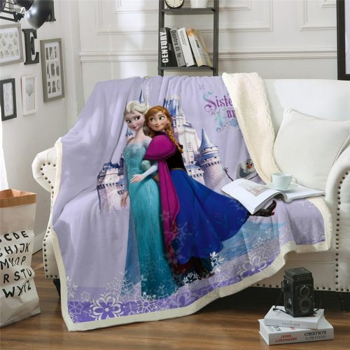 Frozen Anna & Elsa Kids Blanket/Bedspread