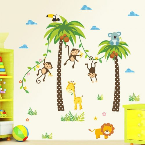 Jungle Animals Wall Stickers for Kids Room