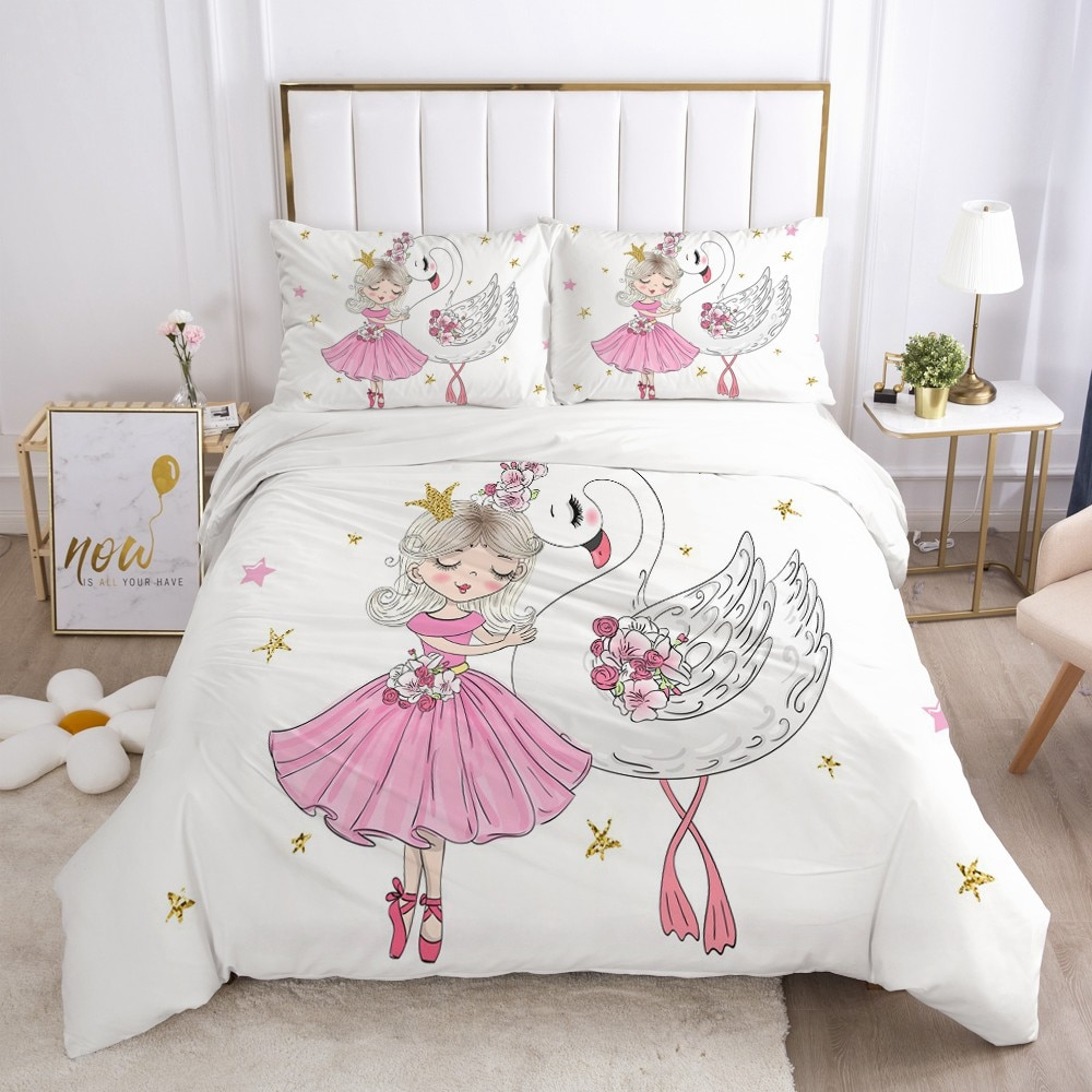 Girls Soft Duvet Bedding Sets