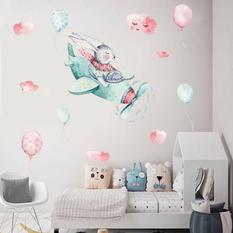 Hot air balloon Cute Wall Sticker Kids rooms Decor Vinyl Wall Decals Home Decoration Children Bedroom 1 / Shop Social Online Store