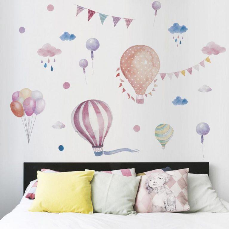 Hot air balloon Cute Wall Sticker Kids rooms Decor Vinyl Wall Decals Home Decoration Children Bedroom 2 / Shop Social Online Store