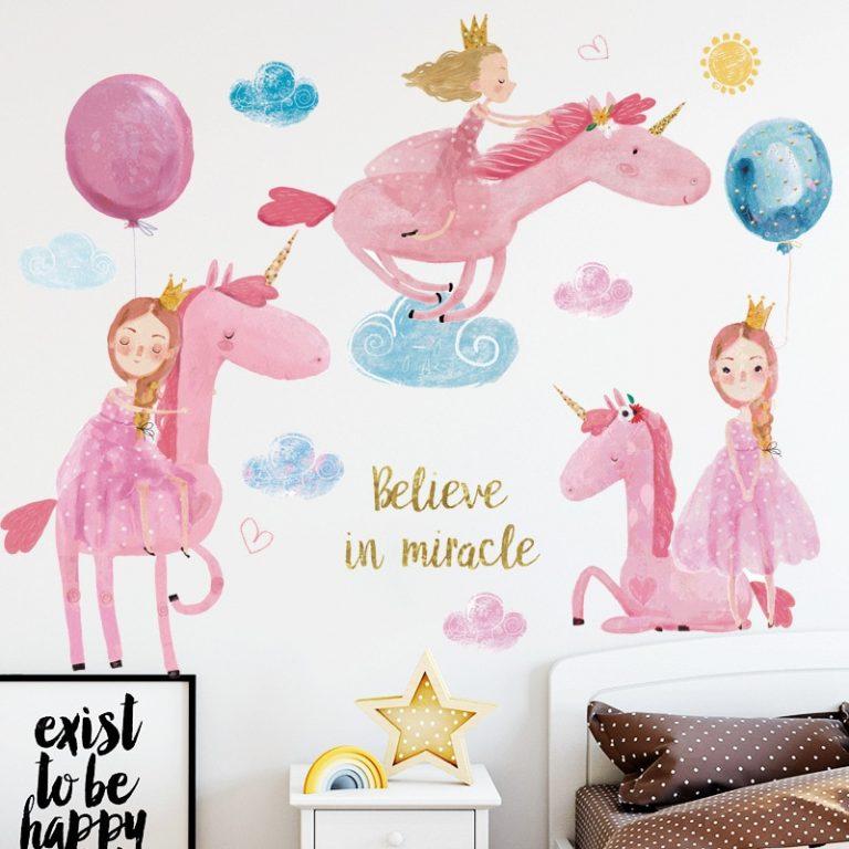 Hot air balloon Cute Wall Sticker Kids rooms Decor Vinyl Wall Decals Home Decoration Children Bedroom 3 / Shop Social Online Store