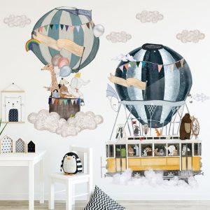 Hot air balloon Cute Wall Sticker Kids rooms Decor Vinyl Wall Decals Home Decoration Children Bedroom / Shop Social Online Store