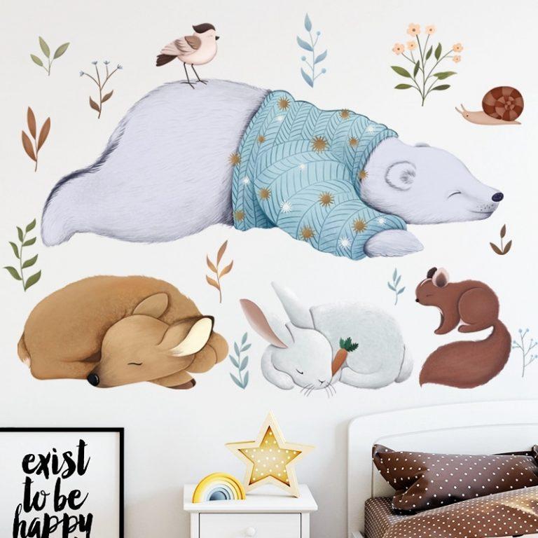 Hot air balloon Cute Wall Sticker Kids rooms Decor Vinyl Wall Decals Home Decoration Children Bedroom 5 / Shop Social Online Store