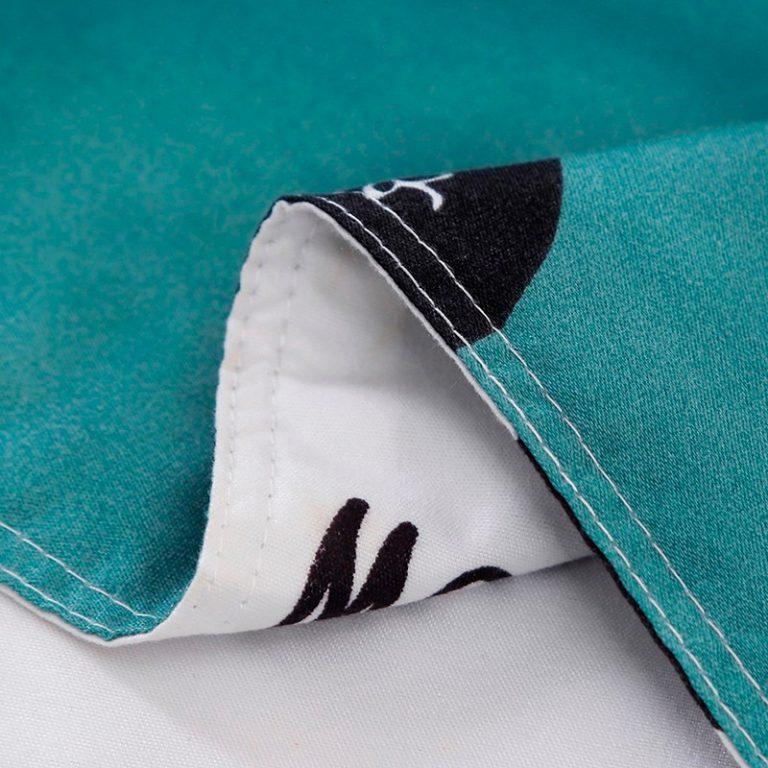 Solstice Home Textile Cyan Cute Cat Kitty Duvet Cover Pillow Case Bed Sheet Boy Kid Teen 4 / Shop Social Online Store