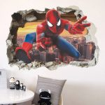 Spiderman Super Heroes Wall Stickers For Kids Room Decoration Home Bedroom PVC Decor Cartoon Movie Mural / Shop Social Online Store