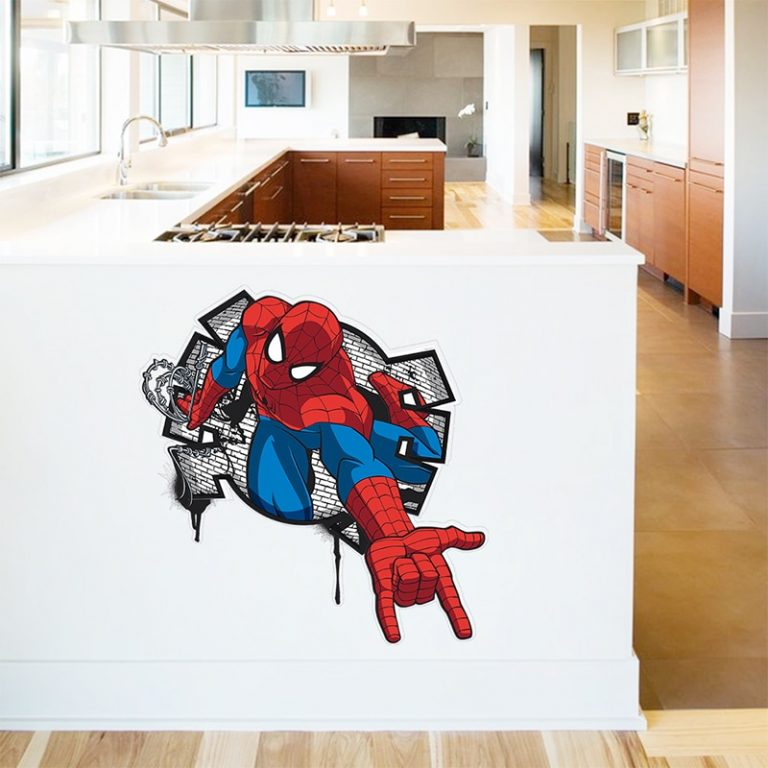 Spiderman Super Heroes Wall Stickers For Kids Room Decoration Home Bedroom PVC Decor Cartoon Movie Mural 2 / Shop Social Online Store