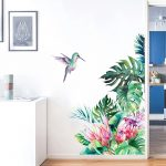 Tropical Leaves, Flowers & Bird Wall Stickers