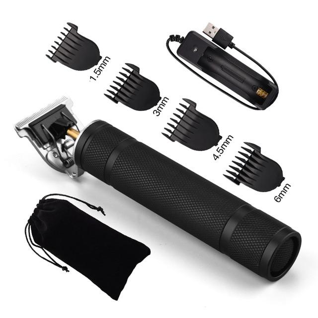 USB Rechargeable T9 Baldheaded Hair Clipper Electric hair trimmer Cordless Shaver Trimmer 0mm Men Barber Hair 6.jpg 640x640 6 / Shop Social Online Store