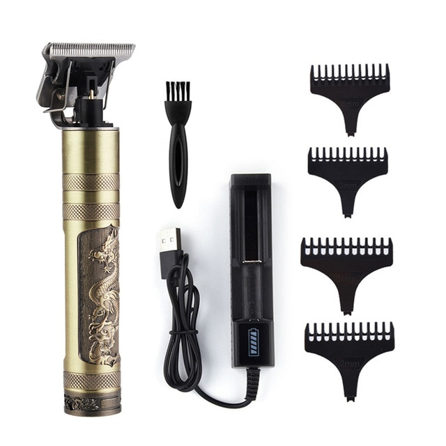 Mens Hair Clippers - Cordless USB Rechargeable Hair Trimmer