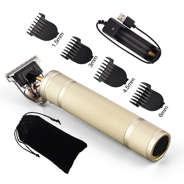 USB Rechargeable T9 Baldheaded Hair Clipper Electric hair trimmer Cordless Shaver Trimmer 0mm Men Barber Hair 8.jpg 640x640 8 / Shop Social Online Store