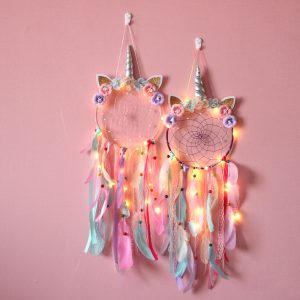 Unicorn Dream Catcher Colorful Feather Dream Catchers Home Decor Wall Hanging for Girls Kids Room Christmas / Shop Social Online Store