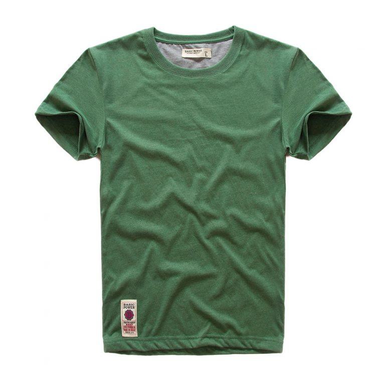 VOMINT hot sale New short sleeve men solid t shirt o neck soft solid cotton elastic 1 / Shop Social Online Store