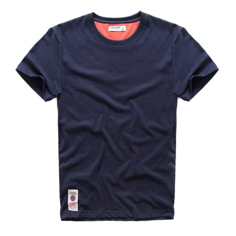 VOMINT hot sale New short sleeve men solid t shirt o neck soft solid cotton elastic 2 / Shop Social Online Store