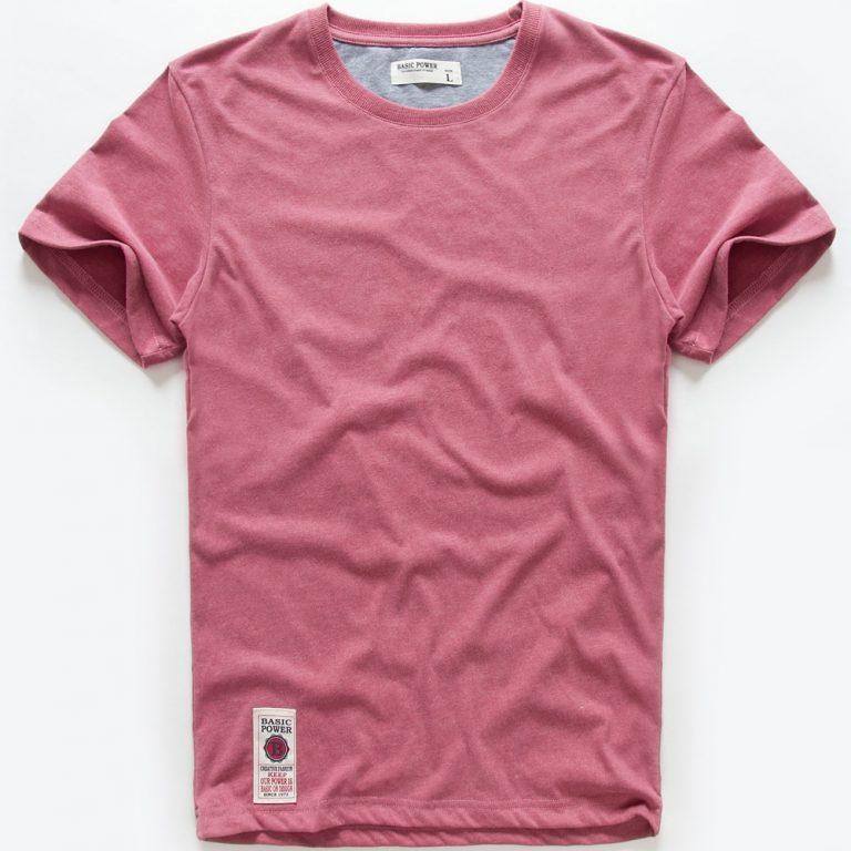 VOMINT hot sale New short sleeve men solid t shirt o neck soft solid cotton elastic 4 / Shop Social Online Store
