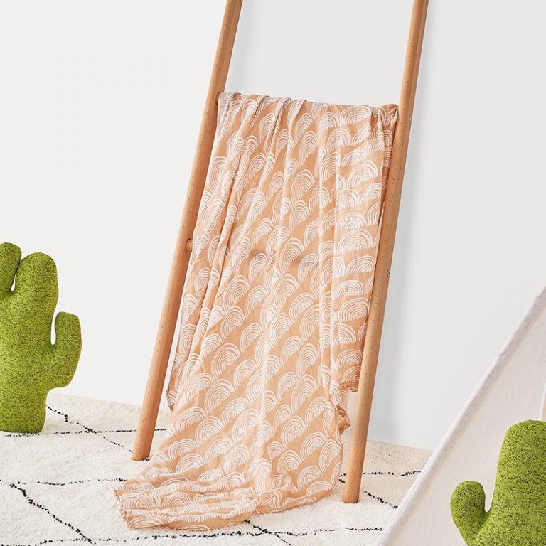 2 pieces pack Kangobaby muslin baby swaddle Blanket Newborn Baby Bath Towel Swaddle Blankets Multi Designs 1 / Shop Social Online Store