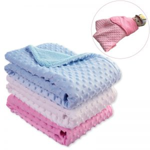Thermal Soft Fleece Baby Blanket - Cotton Quilt Baby Swaddle
