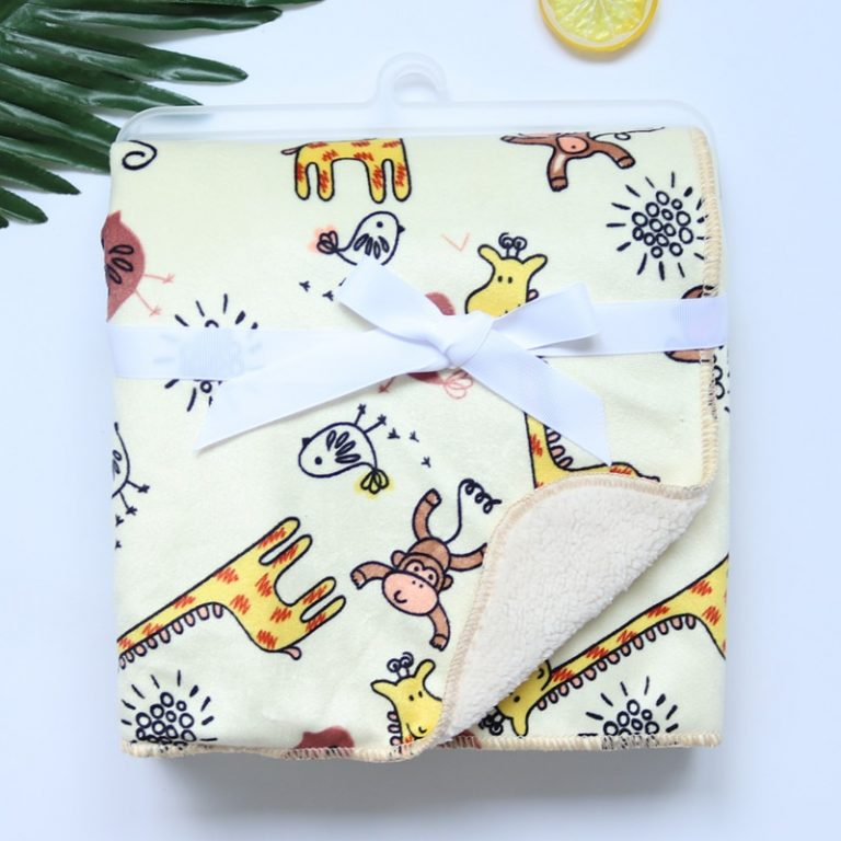 Baby Blankets New Thicken Double Layer Coral Fleece Infant Swaddle Bebe Envelope Wrap Owl Printed Newborn 4 / Shop Social Online Store