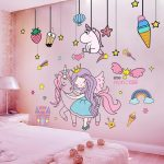 Girls Unicorn Bedroom Wall Decals