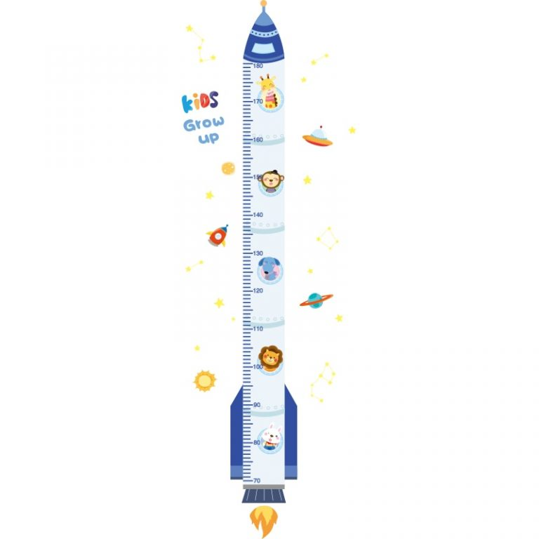 shijuekongjian Cartoon Rocket Wall Stickers DIY Airplane Clouds Mural Decals for Kids Rooms Baby Bedroom 2 / Shop Social Online Store