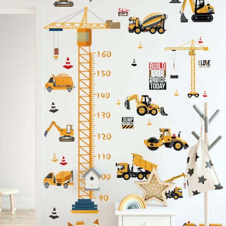 Boys Transportation Toys DIY Wall Sticker Tractors Trucks Car Cartoon Removable Wall Decals For Nursery Kids 2 / Shop Social Online Store