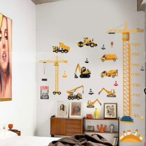Boys Transportation Toys DIY Wall Sticker Tractors Trucks Car Cartoon Removable Wall Decals For Nursery Kids / Shop Social Online Store