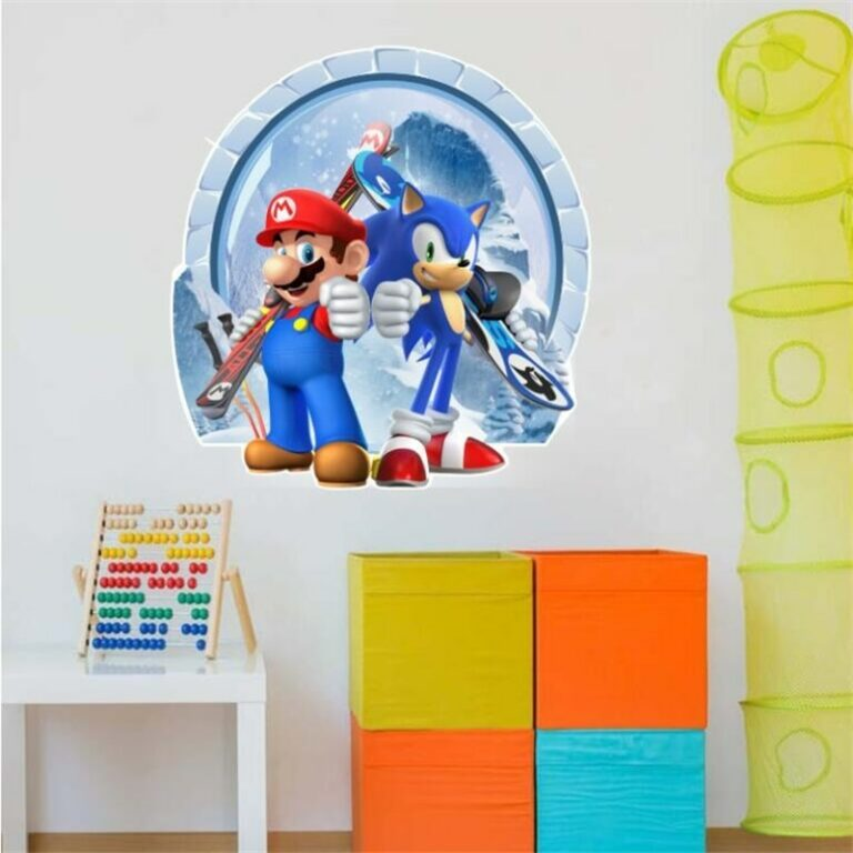 Cartoons super Mario Wall Stickers For Kids Room Home Decor Game poster Environmental protection PVC Stickers 1 / Shop Social Online Store