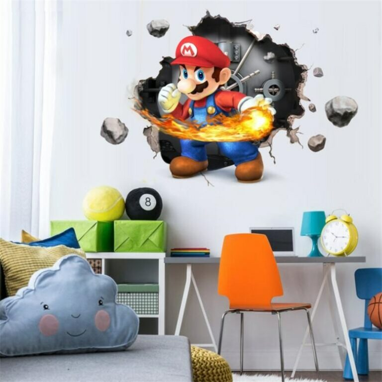Cartoons super Mario Wall Stickers For Kids Room Home Decor Game poster Environmental protection PVC Stickers 2 / Shop Social Online Store