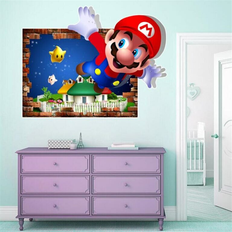 Cartoons super Mario Wall Stickers For Kids Room Home Decor Game poster Environmental protection PVC Stickers 5 / Shop Social Online Store
